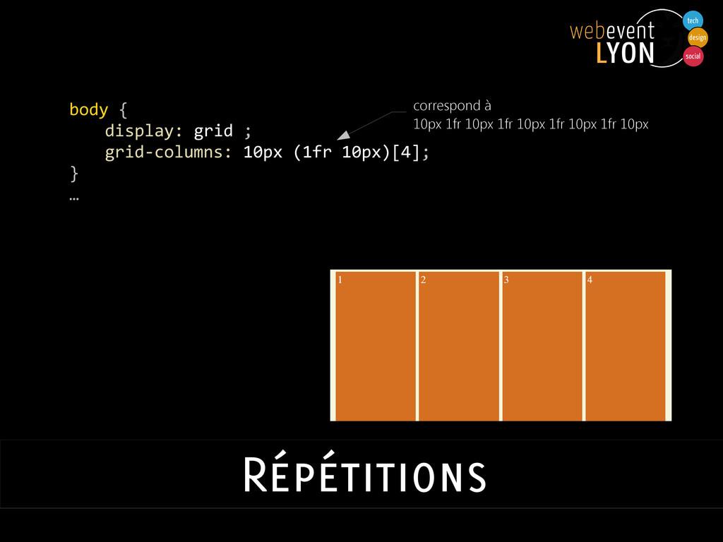 body { display: grid ; grid-columns: 10px (1fr ...