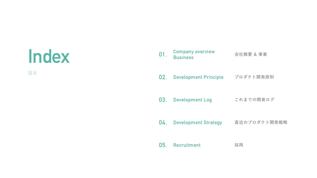  Ver.1.0 Index Company overview   Business ձࣾ...