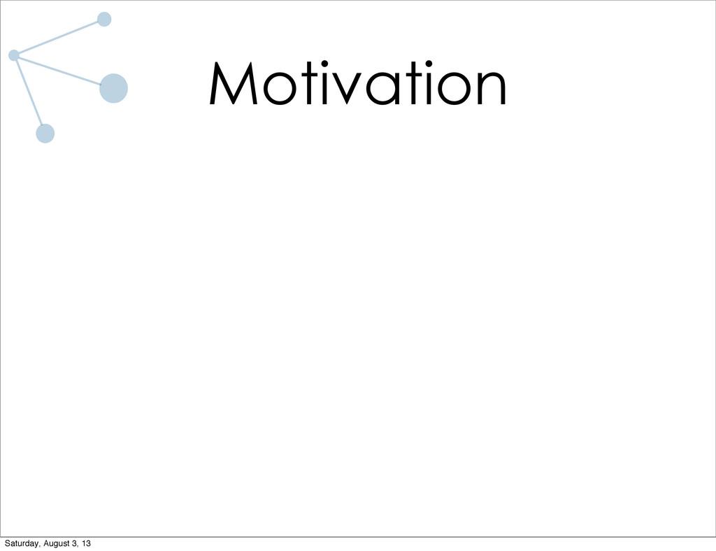 Motivation Saturday, August 3, 13