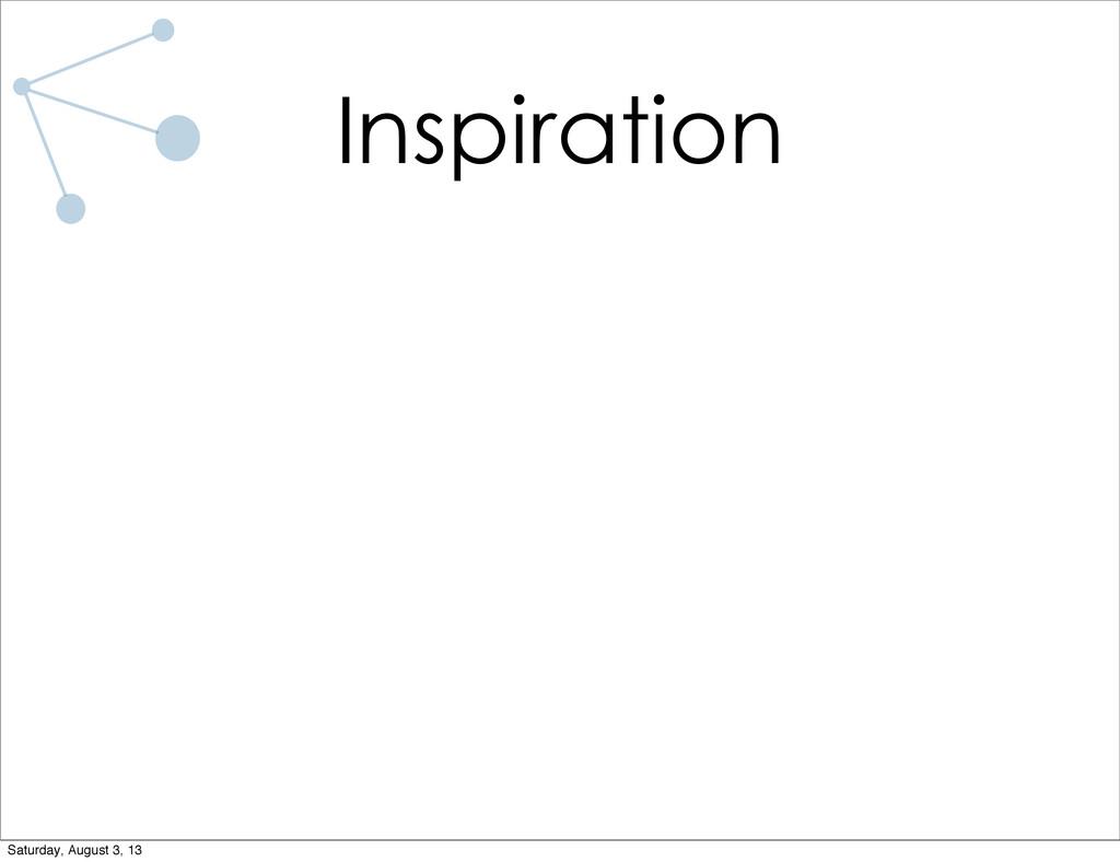 Inspiration Saturday, August 3, 13