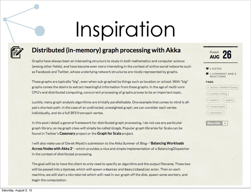 •Scala + Akka to the rescue! Inspiration Saturd...