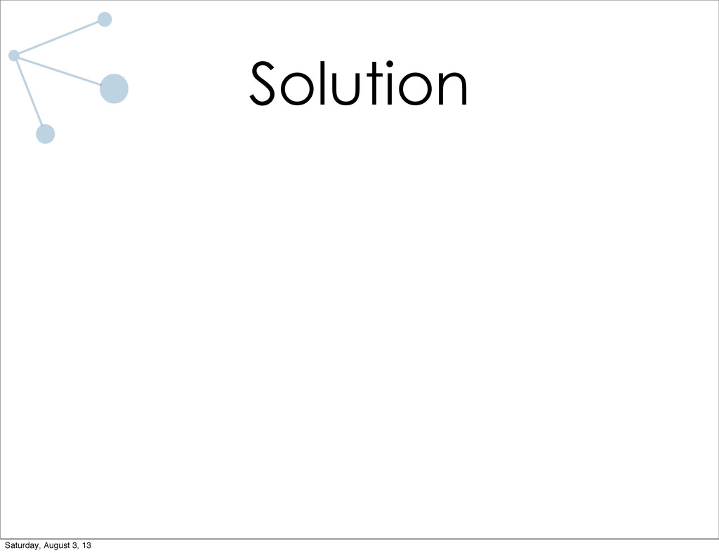 Solution Saturday, August 3, 13