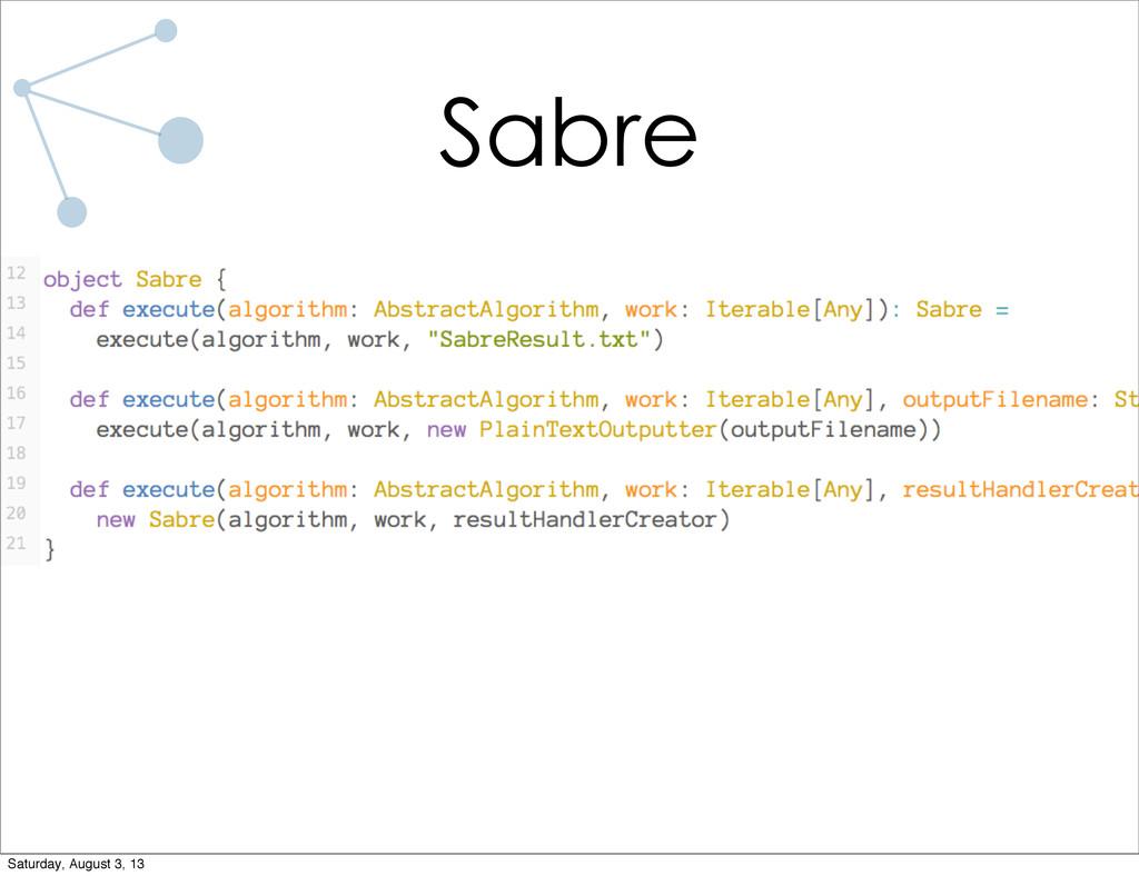Sabre Saturday, August 3, 13
