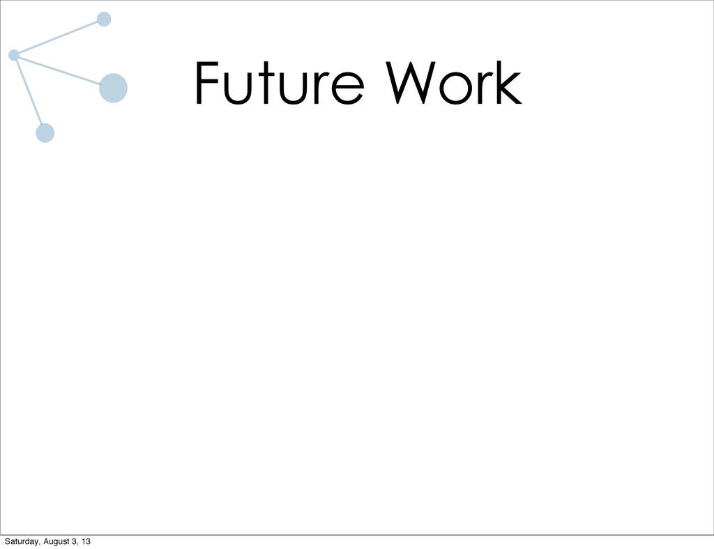 Future Work Saturday, August 3, 13