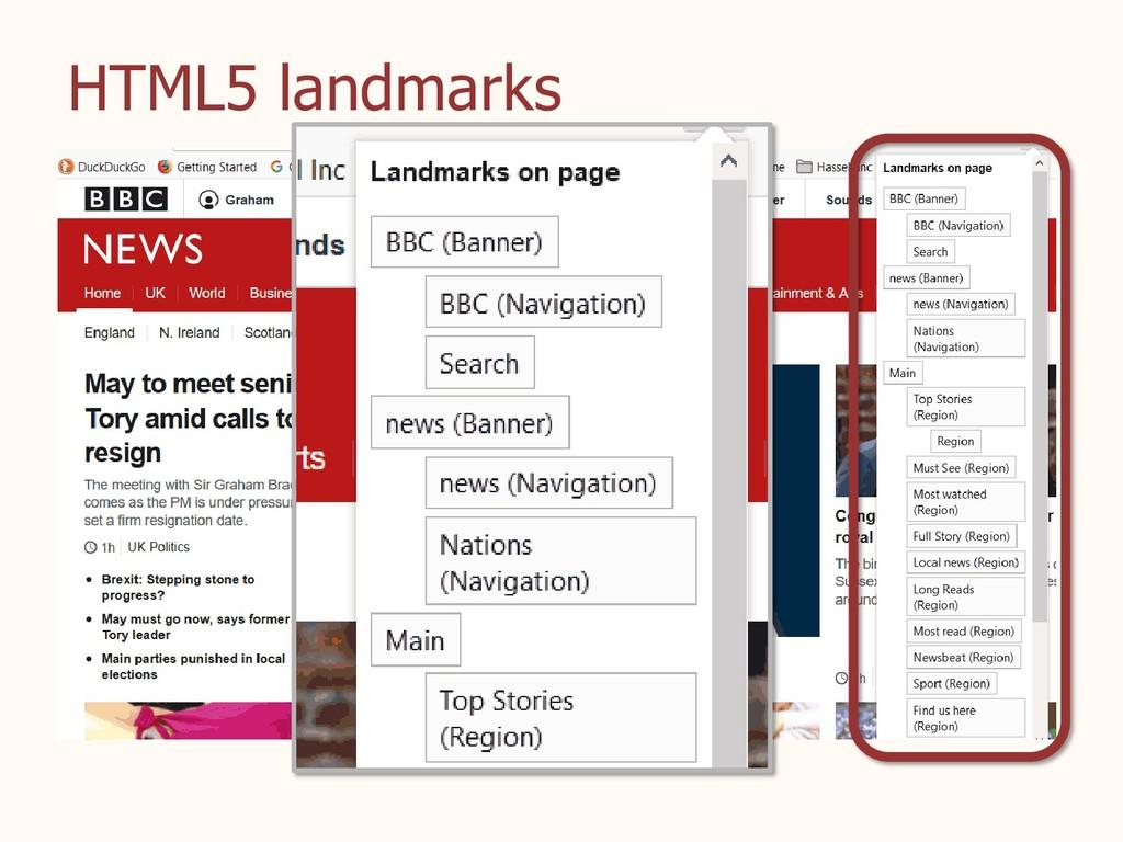 HTML5 landmarks