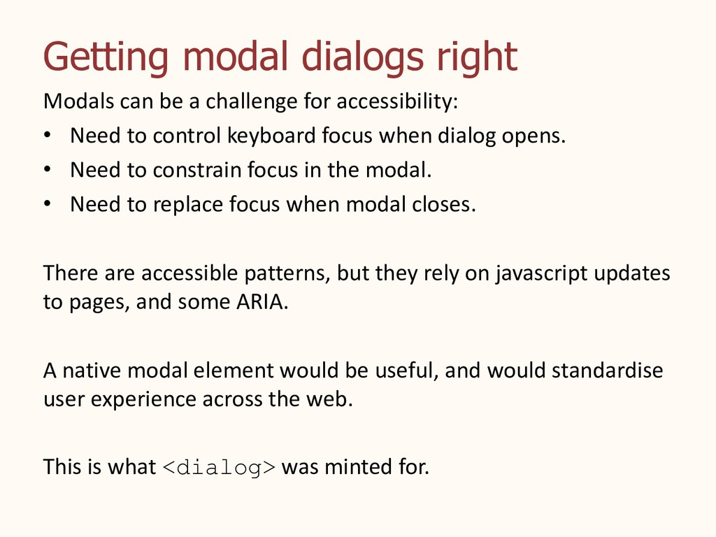 Getting modal dialogs right Modals can be a cha...
