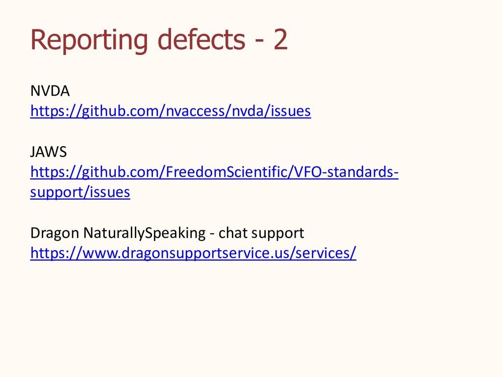 Reporting defects - 2 NVDA https://github.com/n...