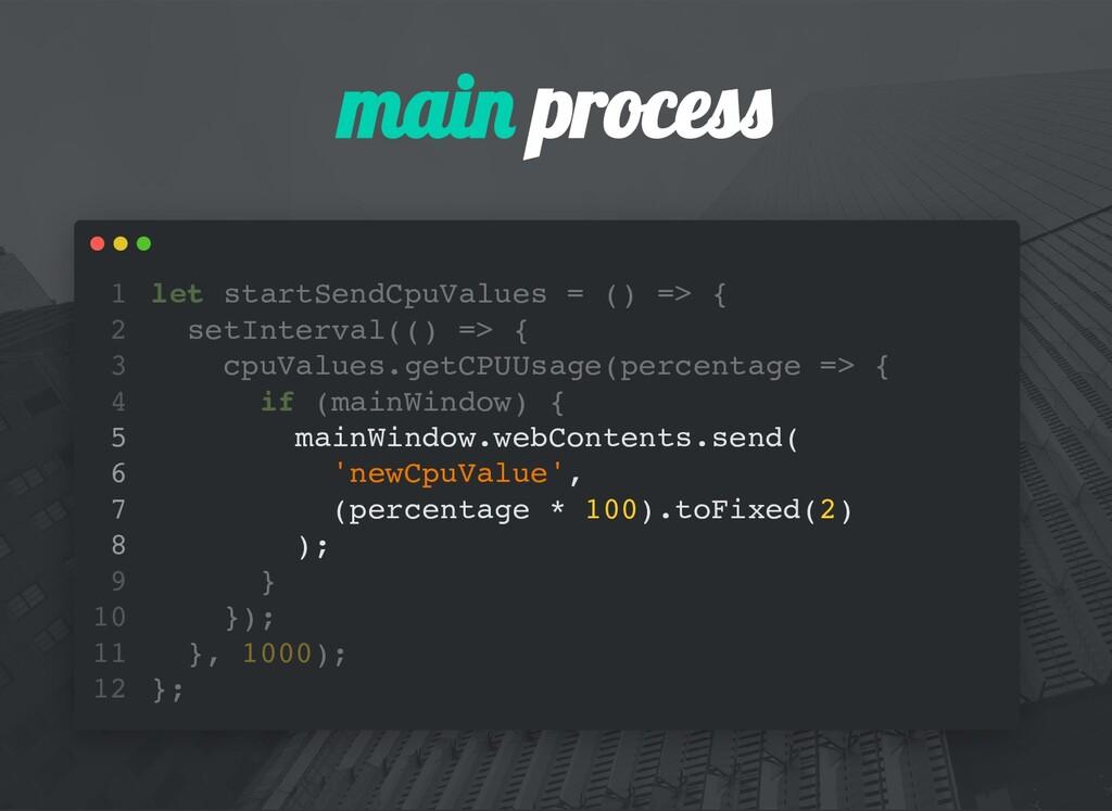 mai proces let startSendCpuValues = () => { set...