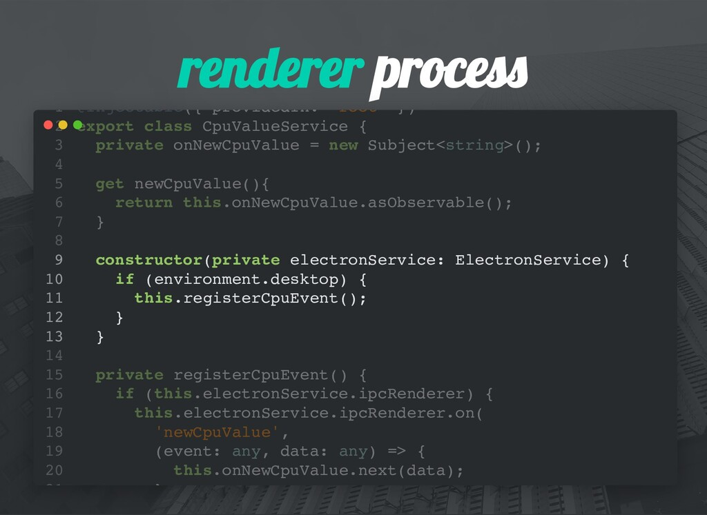 renderer proces @Injectable({ providedIn: 'root...