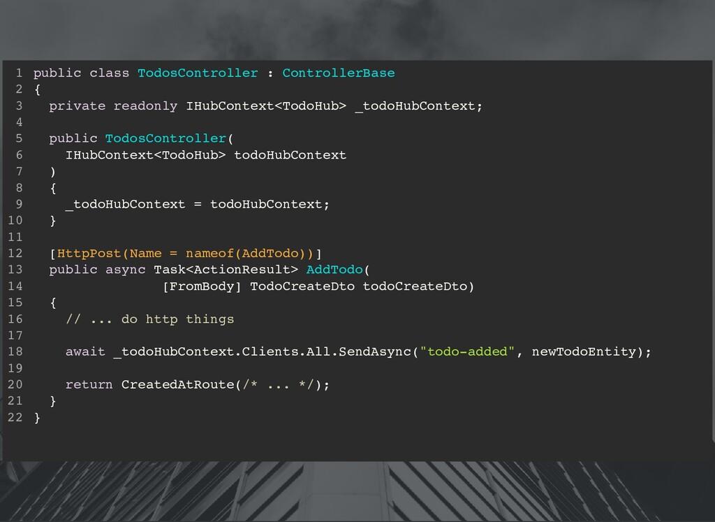 public class TodosController : ControllerBase {...