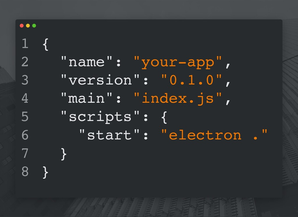 """{ """"name"""": """"your-app"""", """"version"""": """"0.1.0"""", """"main..."""