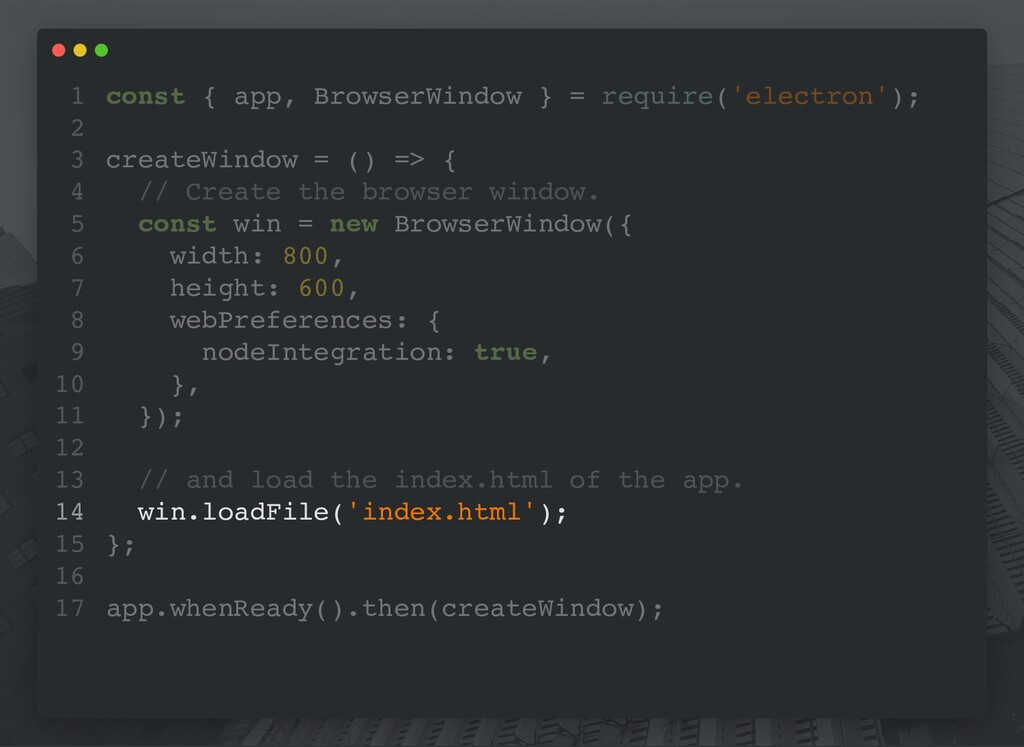 const { app, BrowserWindow } = require('electro...