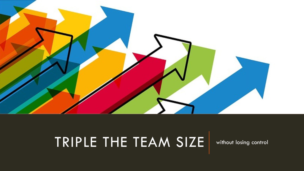TRIPLE THE TEAM SIZE without losing control