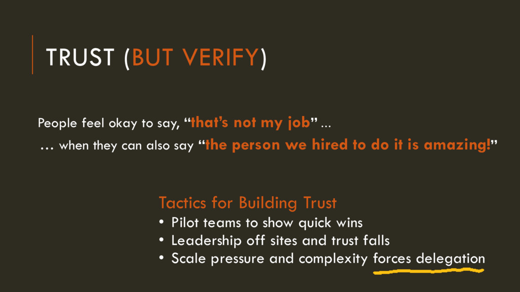 "TRUST (BUT VERIFY) People feel okay to say, ""th..."