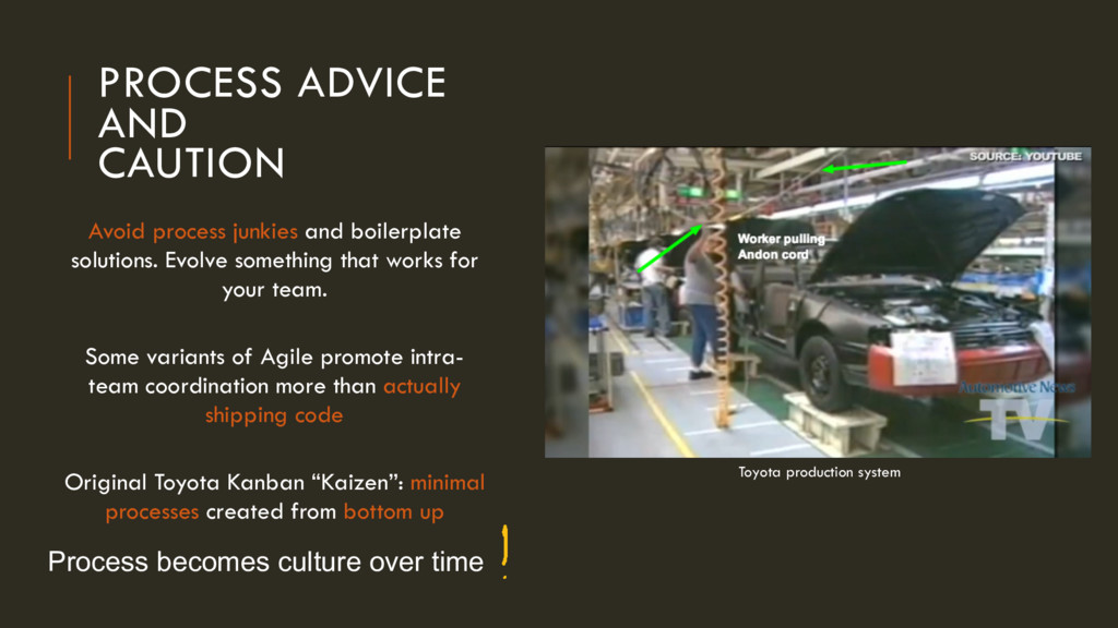 PROCESS ADVICE AND 