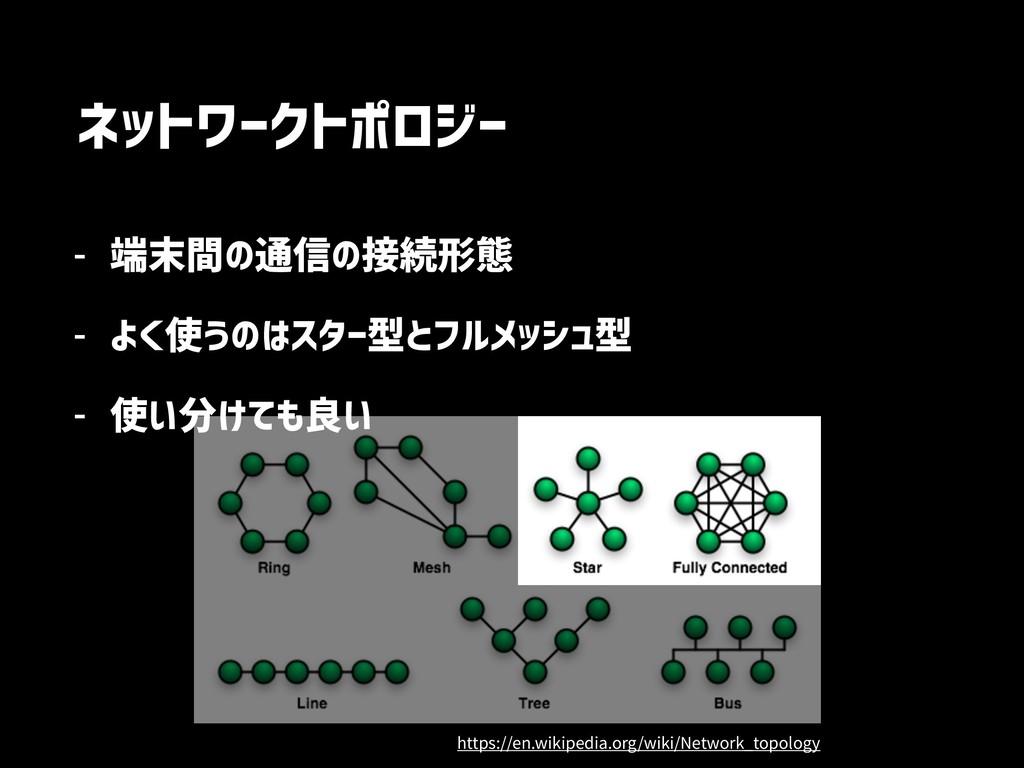 ネットワークトポロジー - 端末間の通信の接続形態 - よく使うのはスター型とフルメッシュ型 ...