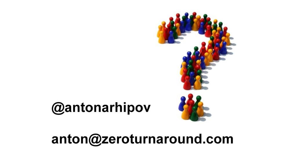 @antonarhipov anton@zeroturnaround.com