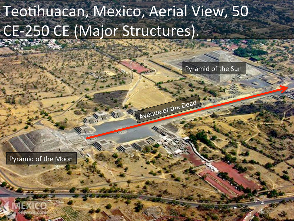 TeoDhuacan, Mexico, Aerial View, 50...