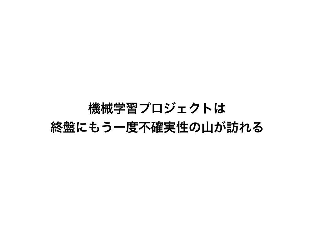 ػցֶशϓϩδΣΫτ ऴ൫ʹ͏Ұෆ࣮֬ੑͷ͕๚ΕΔ