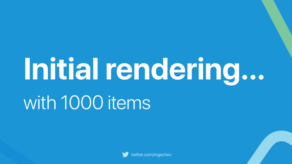 twitter.com/mgechev Initial rendering… with 100...