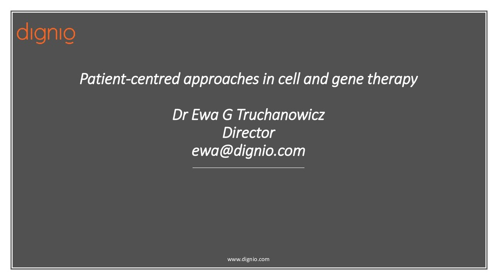 Patient-centred approaches in cell and gene the...