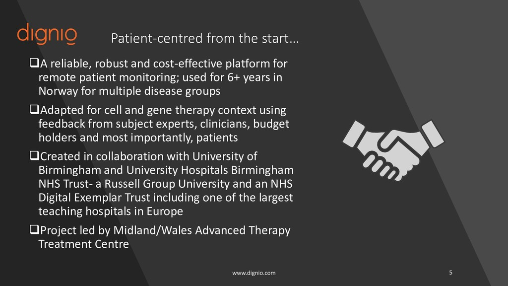 Patient-centred from the start… ❑A reliable, ro...