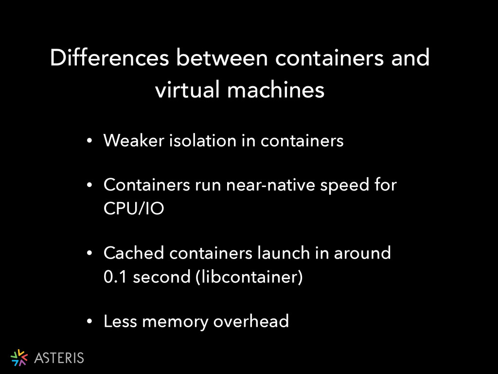 Differences between containers and virtual mach...