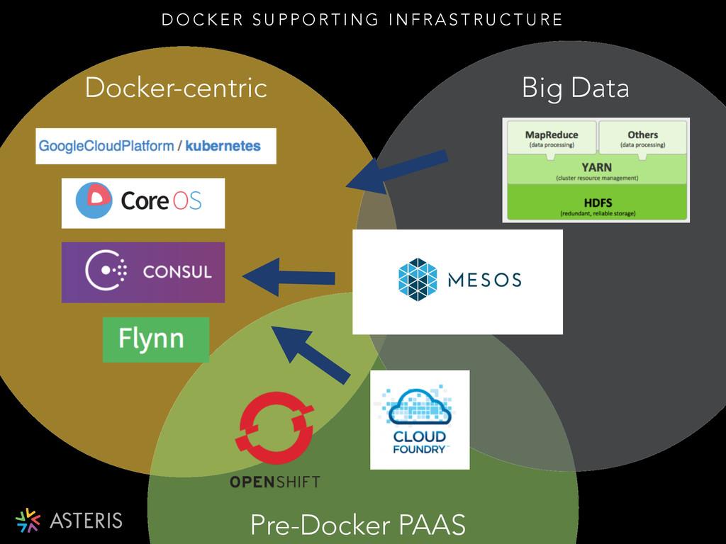 Docker-centric Big Data Pre-Docker PAAS D O C K...