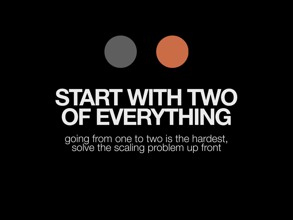 START WITH TWO OF EVERYTHING going from one to ...