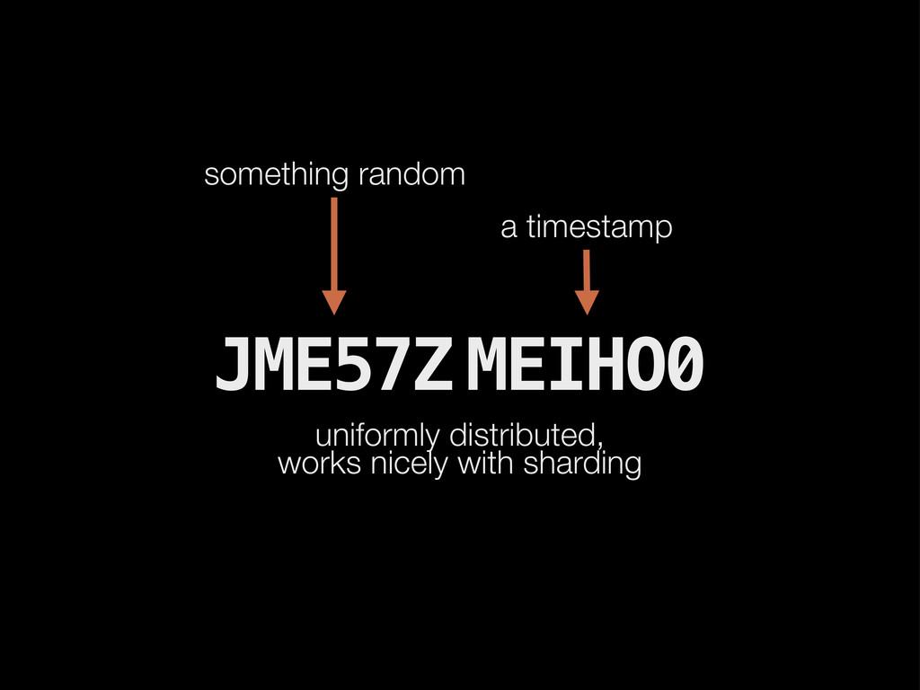 JME57Z MEIHO0 uniformly distributed, works nice...