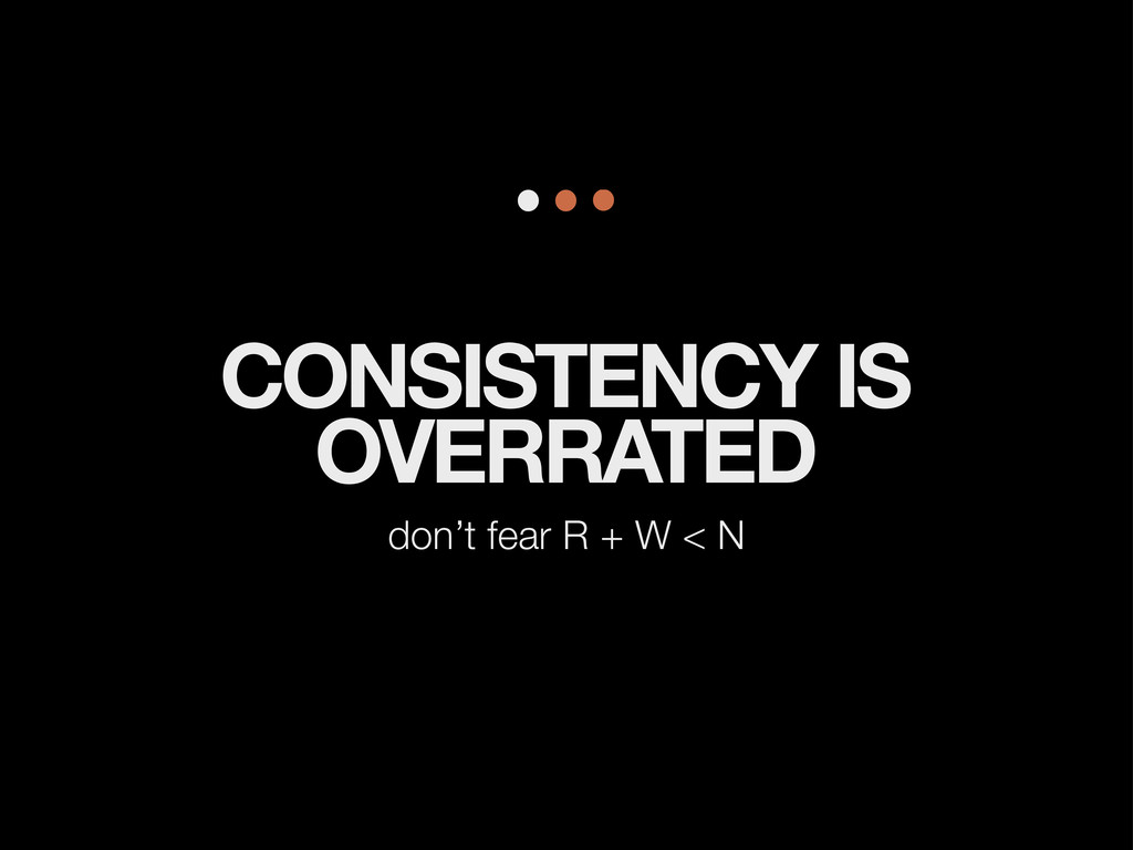 CONSISTENCY IS OVERRATED don't fear R + W < N