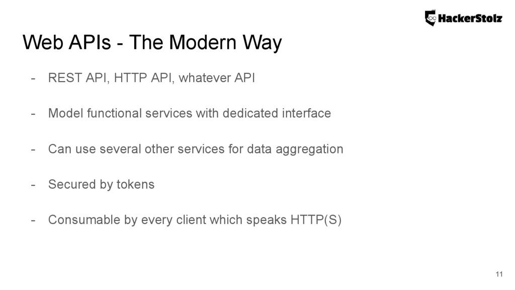 Web APIs - The Modern Way - REST API, HTTP API,...