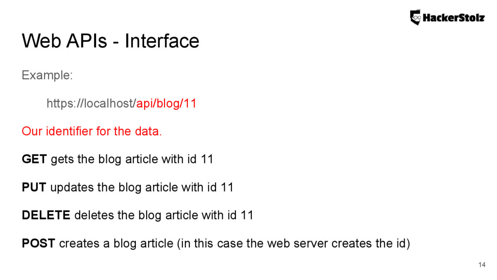 Web APIs - Interface Example: https://localhost...
