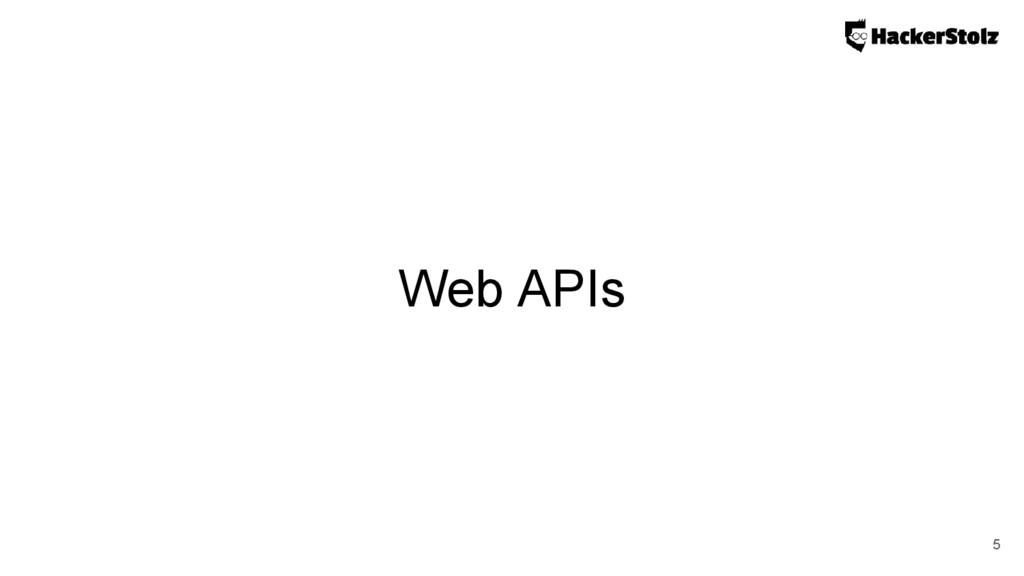 Web APIs 5