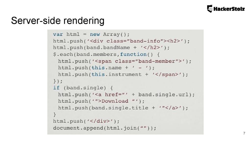 Server-side rendering 7