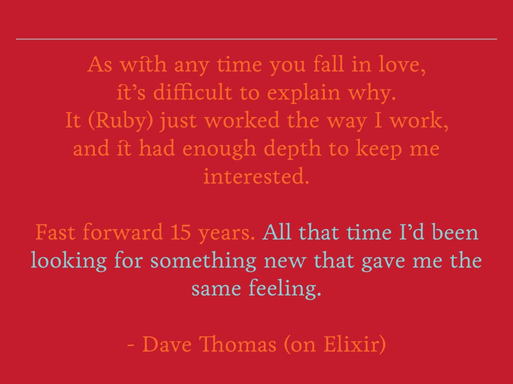 As with any time you fall in love, it's difficu...