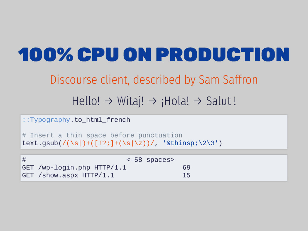 100% CPU ON PRODUCTION 100% CPU ON PRODUCTION H...