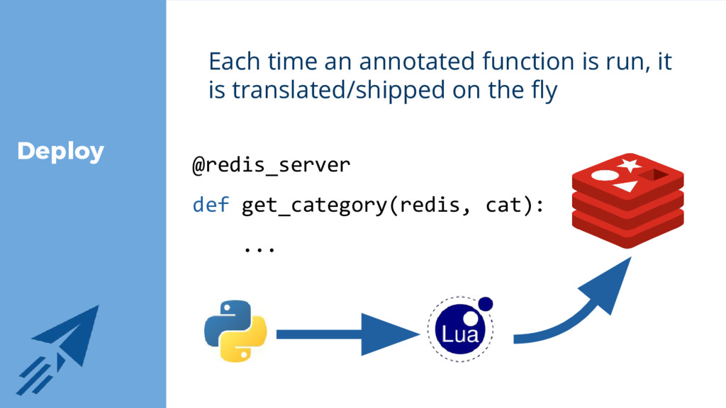 Deploy Each time an annotated function is run, ...