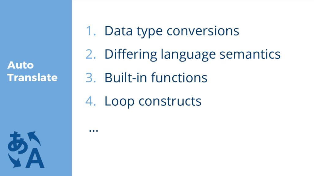 Auto Translate 1. Data type conversions 2. Diff...