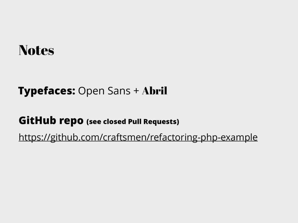 Notes Typefaces: Open Sans + Abril GitHub repo ...