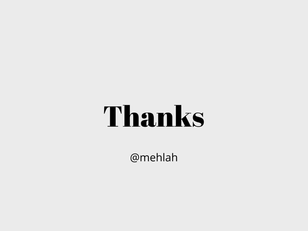 Thanks @mehlah