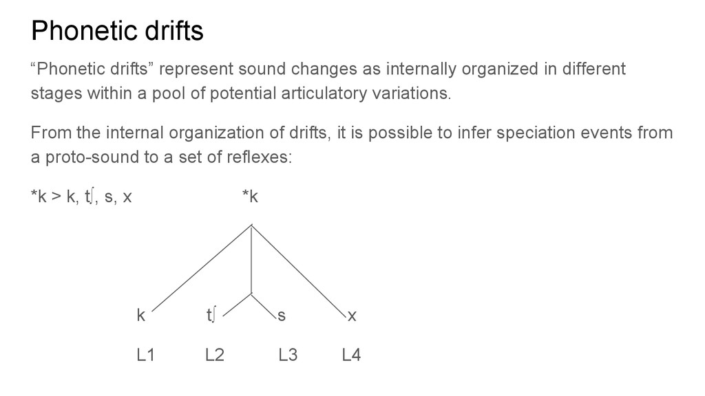 "Phonetic drifts ""Phonetic drifts"" represent sou..."