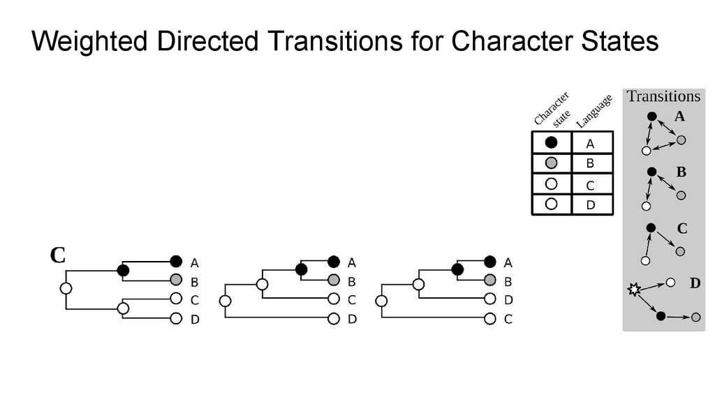 Weighted Directed Transitions for Character Sta...