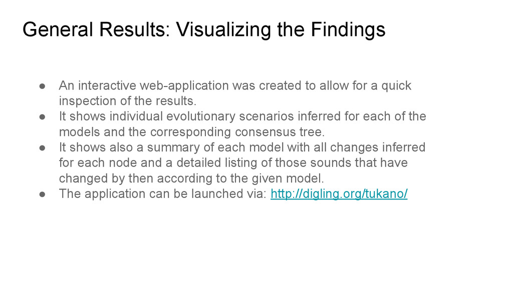General Results: Visualizing the Findings ● An ...