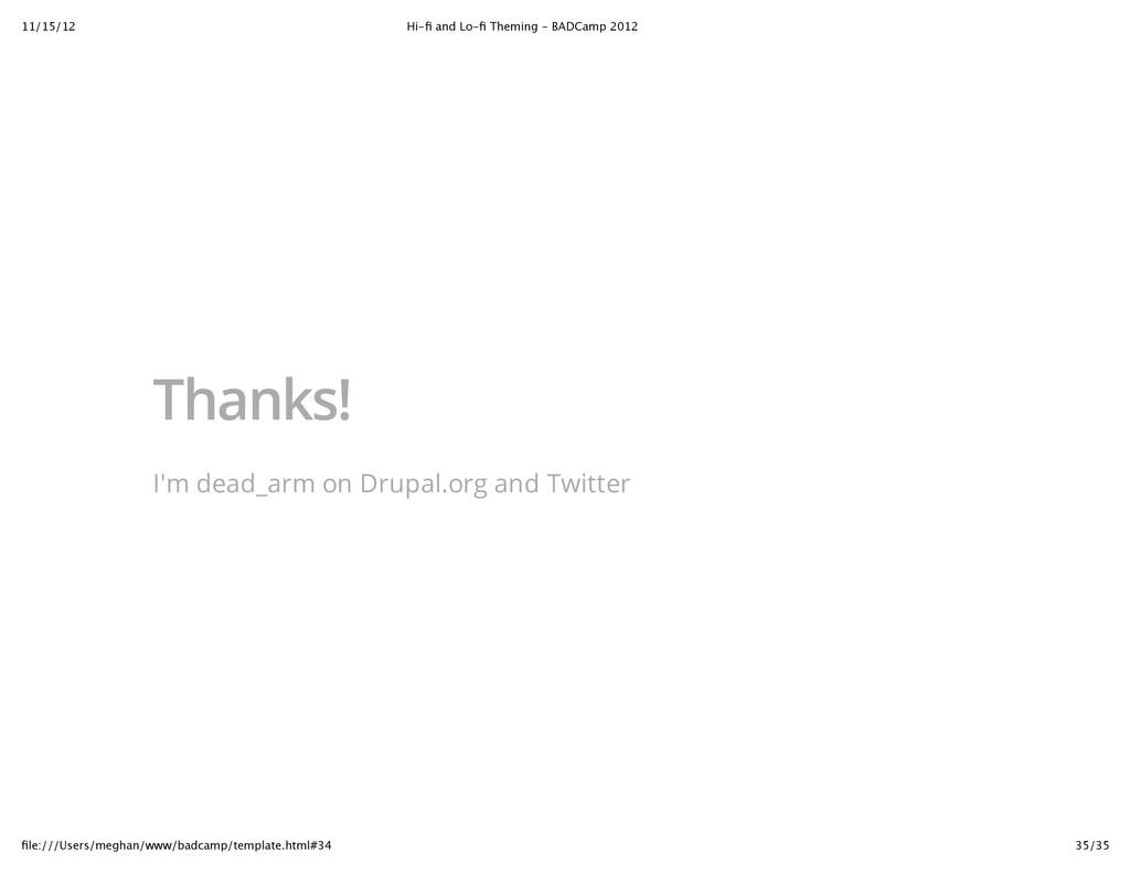 11/15/12 Hi‑fi and Lo‑fi Theming ‑ BADCamp 2012 3...