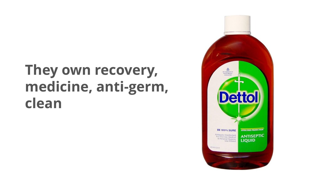 They own recovery, medicine, anti-germ, clean