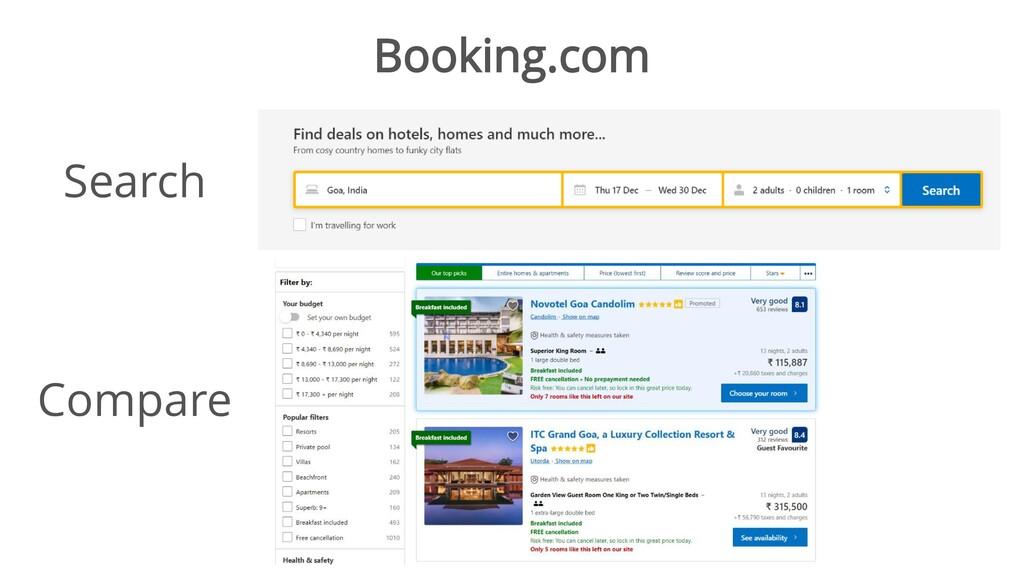 Booking.com Search Compare