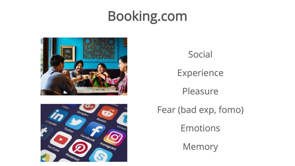 Booking.com Social Experience Pleasure Fear (ba...