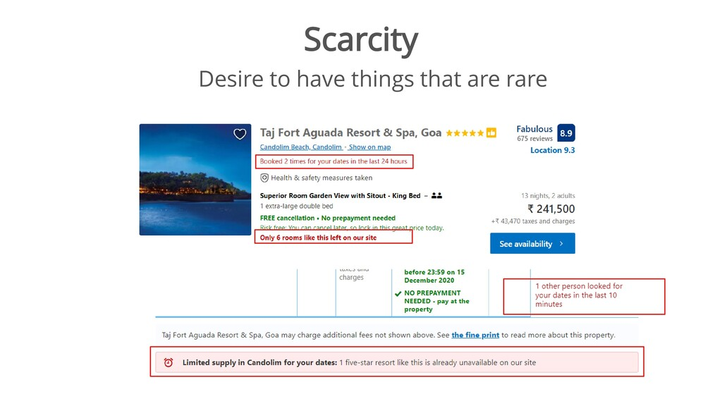 Scarcity Desire to have things that are rare