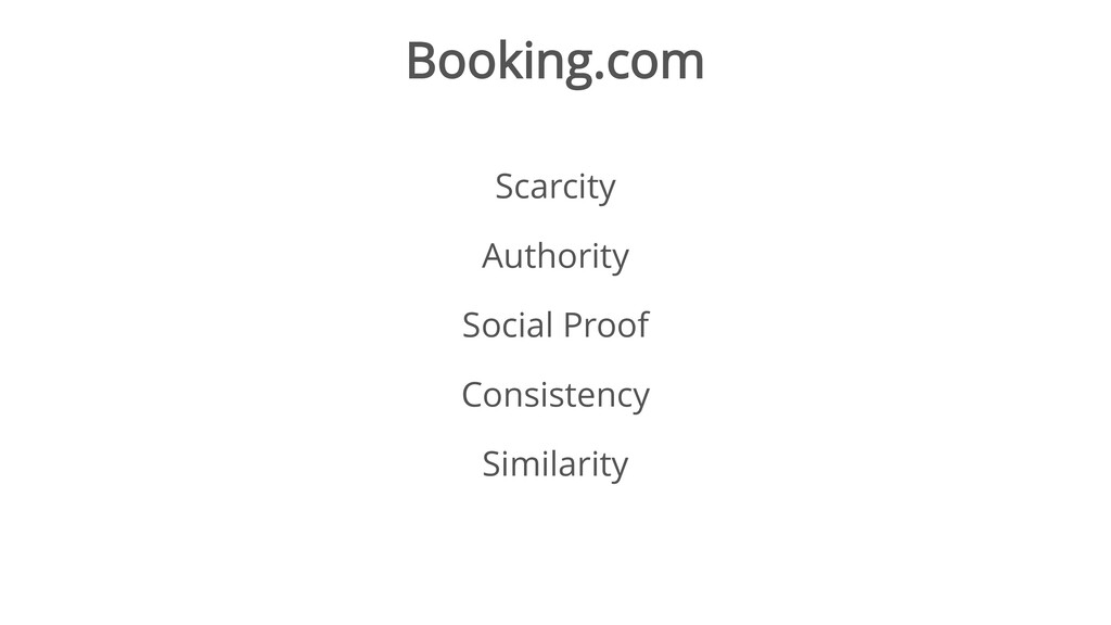 Booking.com Scarcity Authority Social Proof Con...